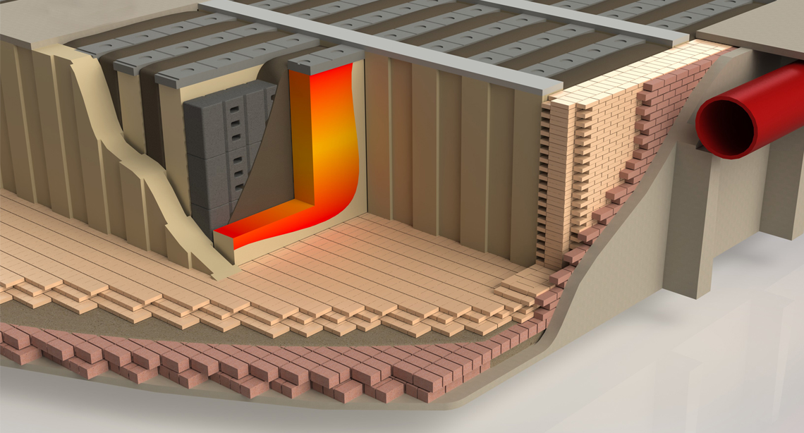 Insulation for anode baking furnaces